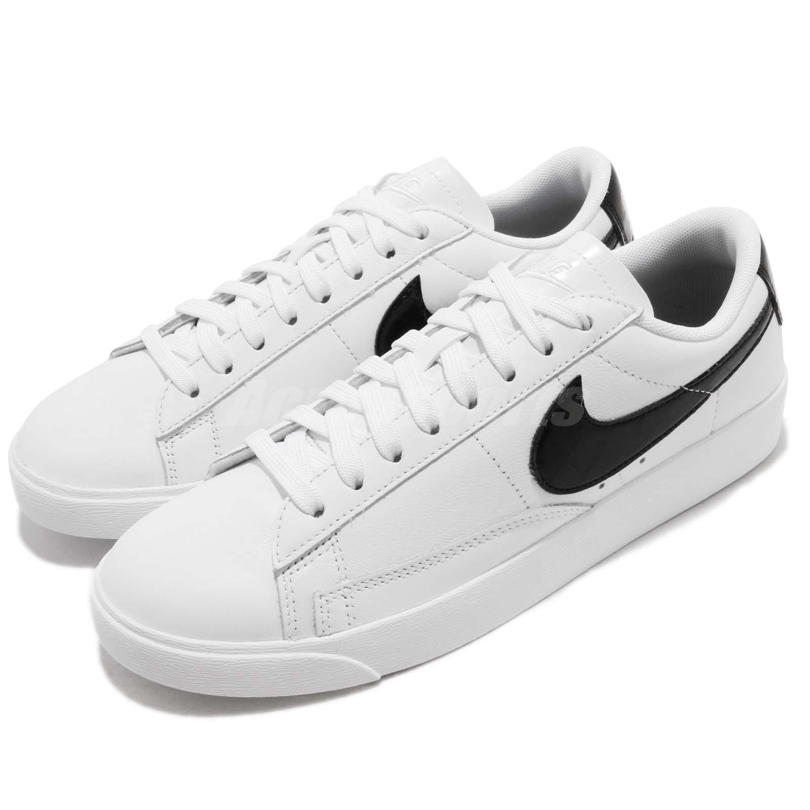 Nike Bajo Mujeres Blazer Bajo Nike Blanco Negro Para mujeres Zapatos Tenis Estilo de vida informal BQ0033-100 1c5710
