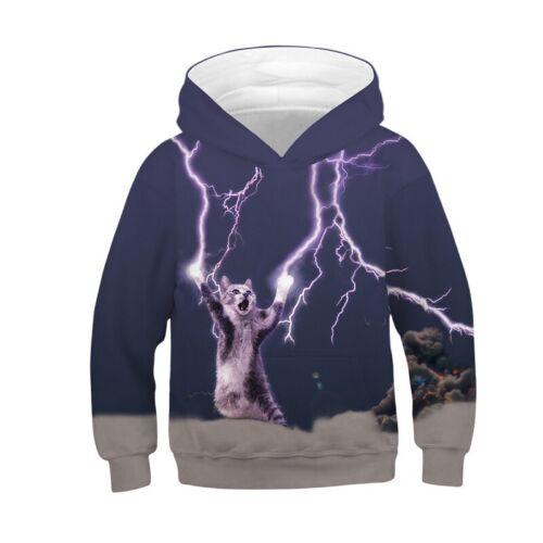 Kids Boys Girls 3D Galaxy Hoodie Hooded Sweatshirt Pullover Tops Outwear Coats