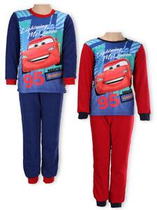 Disney-Cars-Kinder-Jungen-Polar-Fleece-Schlafanzug-Gr-98-128-langarm-Pyjama-neu