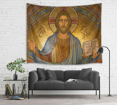 LB Jesus And The Bible Tapestry Wall Hanging For Bedroom Livingroom Dorm  Decor | eBay