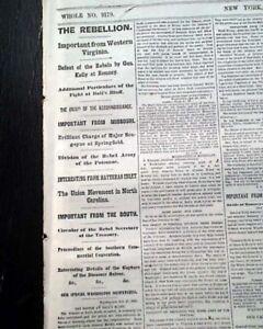 ZAGONYI-039-S-CHARGE-First-Battle-of-Springfield-Missouri-1861-Civil-War-Newspaper