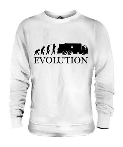 Regalo Unisex Maglione Spazzatura Evoluzione Immondizia Pilota Camion Umana azxAXnwBq