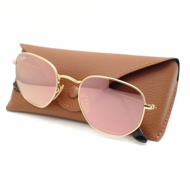 66fda67ec23cd Ray Ban 3548 N 001 Z2 Shiny Gold Flat Copper Flash Mirror New Sunglass  Authentic
