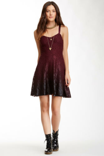 NWT Free People Foil Ombre Lace Fit N Flare Dress