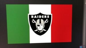 Details About Oakland Raiders Mexico Flag 3x5 Ft Green White And Red Flag Bandera