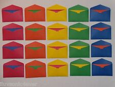 20 primary mini envelopes and 20 matching color fold up cards