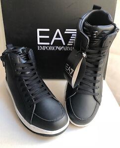 Scarpe-Uomo-Emporio-Armani-EA7-248014-7A258-Stivaletti-Sneakers-Alte-Nere-Nuove