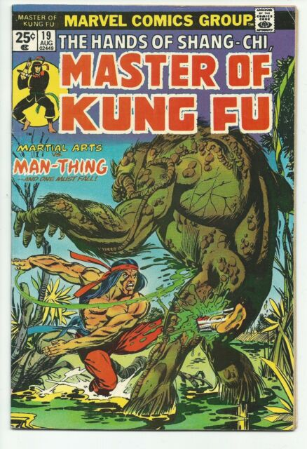 Master of Kung Fu #19 Vs. The Man-Thing Marvel Comics Bronze Age