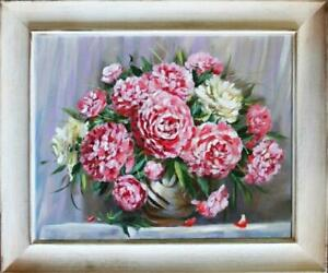 Rosen-Blumen-Olgemaelde-Bild-Gemaelde-Olbilder-Olbild-Bilderrahmen-Rahmen-G06461