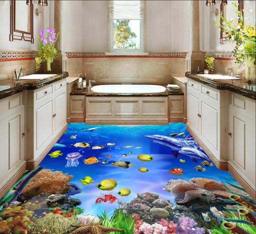 3D Tiefsee 750 Fototapeten Wandbild Fototapete Tapete Familie DE Lemon