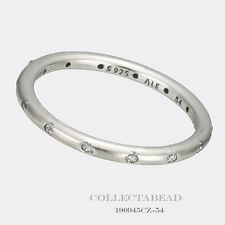 Authentic Pandora Sterling Silver Droplets CZ Ring Size (9) 60 190945CZ