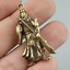 40MM-Collect-Curio-Chinese-Bronze-Guan-Gong-Yu-Warrior-God-Amulet-Small-Pendant thumbnail 6