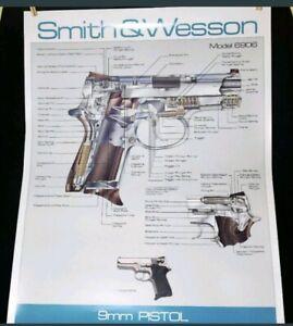 SMITH & WESSON 9mm Pistol Handgun Model 6906 rare Diagram Poster gun   eBayeBay