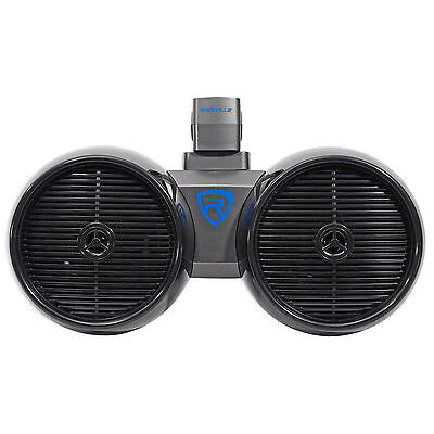 "Rockville DWB80B Dual 8"" Black 800 Watt Marine Wakeboard Tower Speaker System"