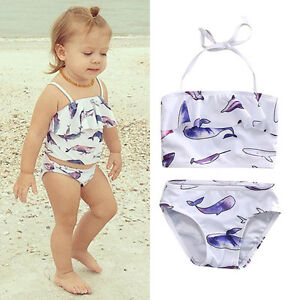 4f5707b918 Image is loading Toddler-Kid-Baby-Girl-Tankini-Bikini-Swimwear-Swimsuit-