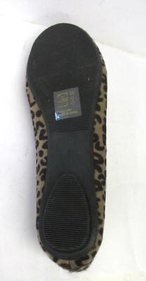 Señoras de punto en resbalón en Casual dolly/ballerina Zapatos con elástico delantero f8841