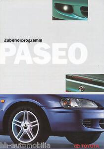 Toyota-Paseo-Zubehoer-Prospekt-3-97-brochure-1997-Auto-PKWs-Japan-Autoprospekt