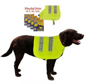 perros-alta-visibilidad-Chaleco-seguridad-reflectante-Velcro-Luz-Chaqueta