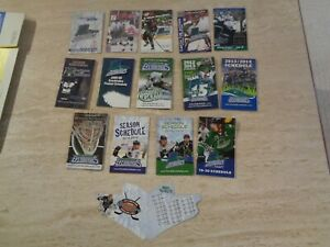 Lot of 15 Diff. Florida Everblades Schedules   - 1998 to 2020 - ECHL Hockey - MT