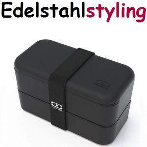 monbento 120002102 original schwarz die bento box lunchbox brotdose ebay. Black Bedroom Furniture Sets. Home Design Ideas
