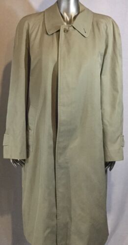 Burberry  Vintage Mens  Beige Cotton Blend Trench