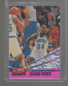 1993-94-ISAIAH-RIDER-TOPPS-STADIUM-CLUB-BEAM-TEAM-CARD-24-OF-27-TIMBERWOLVES