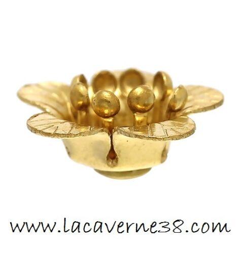 Lot 5//20//50 coupelles intercalaire fleur couleur laiton perle diam 10mm création