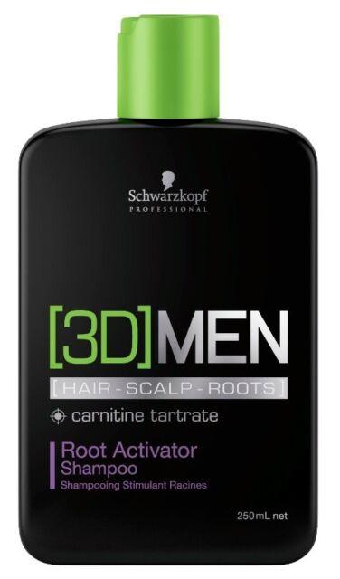 Schwarzkopf 3D Men Root Activator Shampoo 250ml Aktivierendes Shampoo