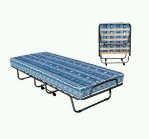 Letto lettino branda pieghevole con materasso campeggio camper cm 190x80 50070 ebay - Letto pieghevole con materasso ...