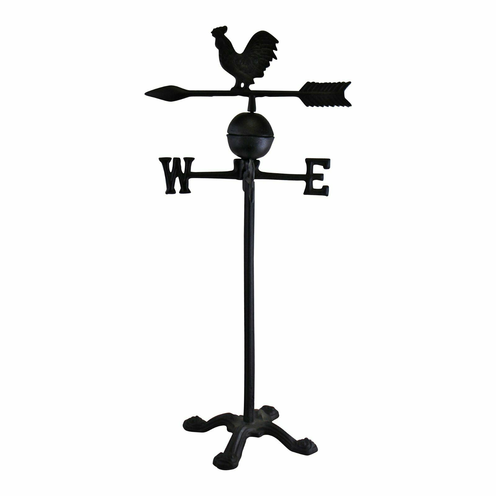 Large Cast Iron Freestanding Rooster Weather Vane Vintage Design Weathervane