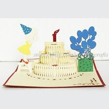 3d Birthday Pop up Card, Popup Birthday Card, Pop up Cards Birthday. Kirigami!