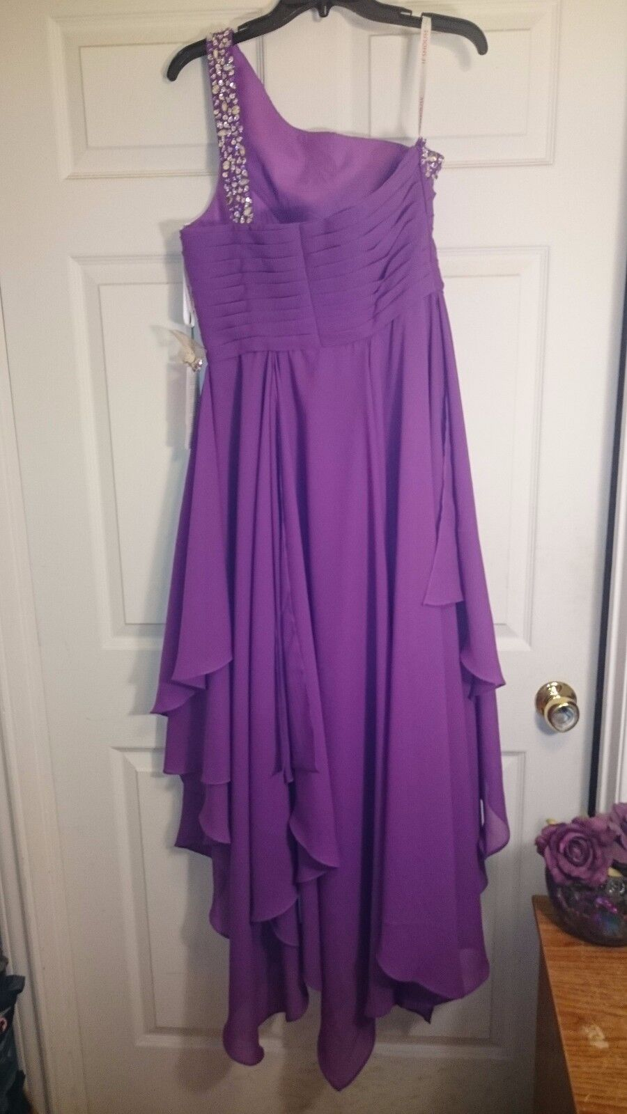 New Purple Hi Low Low Low Dress Size 12 in Juniors 23aacb