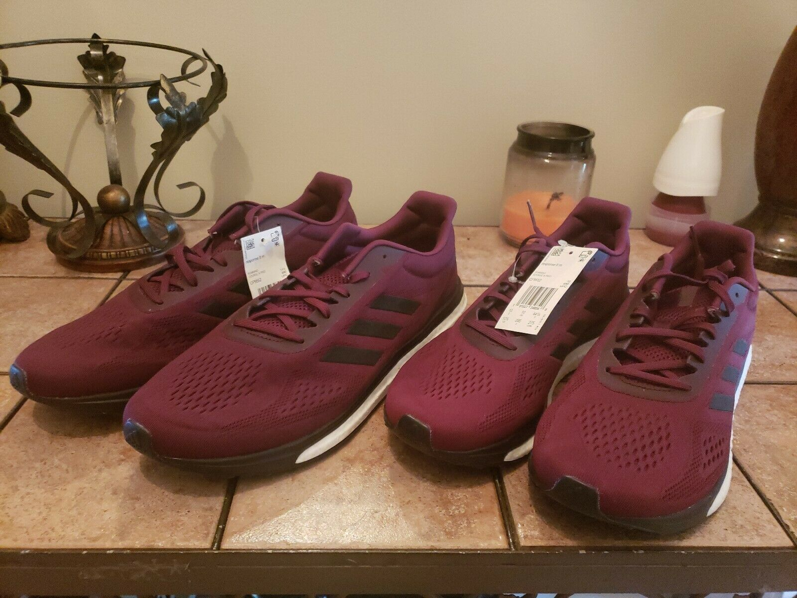 New Adidas Response Limited LT Boost Mens Running shoes. Size 12. Maroon CP9552