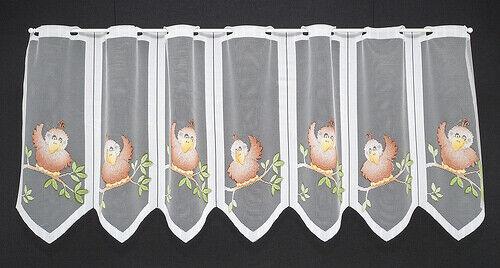 Scheibengardine Vögel Bistrogardine Gardine Panneaux Küche 45 hoch