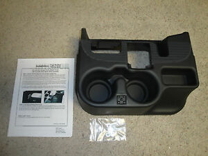 New 2003 12 Dodge Ram Center Console Cupholder Black Add On 1500 2500 3500 Ebay