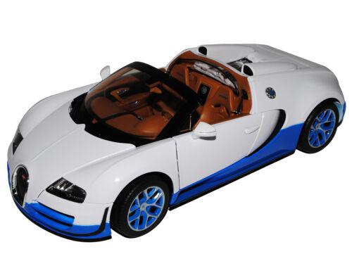 Bugatti Veyron 16.4 Grand Sport Vitesse Weiss azul 1//18 Rastar modelo coche con...