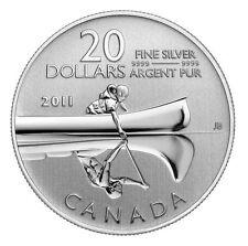 2011 Canada $20 Fine Silver Coin - Canoe