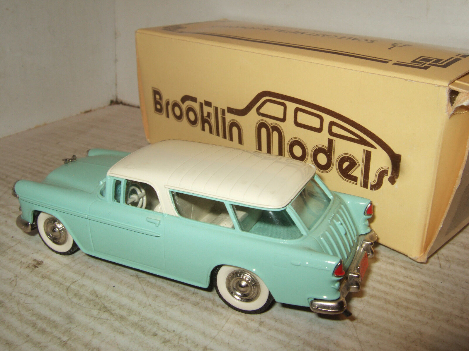 Métal Blanc Brooklin models, BRK 26 1955 CHEVROLET NOMAD NOMAD NOMAD en échelle 1 43. 1c4831
