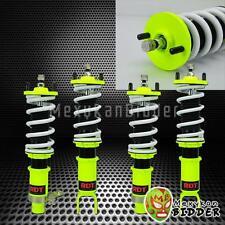 Hyper Yellow Adjustable Suspension Coilover Damper Kit For Honda Civic 96-00 EK
