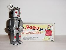 HA HA TOY BATTERY OPERATED MR ROBOT THE MECHANICAL BRAIN WIND UP TIN ROBOT MINT