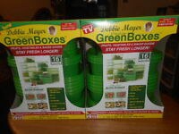 Debbie Meyer Ultralite Green Boxes Greenboxes Food Storage 2 Containers Set