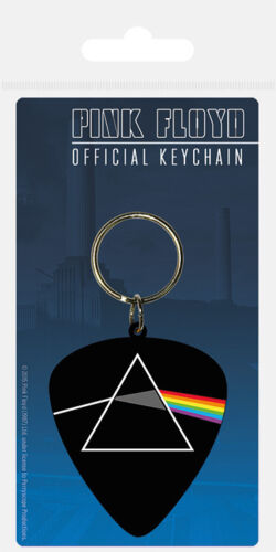 PINK FLOYD PLECTRUM RUBBER KEYRING NEW OFFICIAL MERCHANDISE PYRAMID