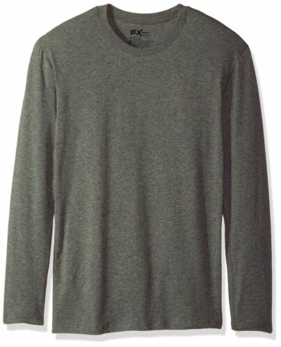 Hanes Men/'s Dyed Thermal Crew with FreshIQ Midnight Charcoal Heather X-Large