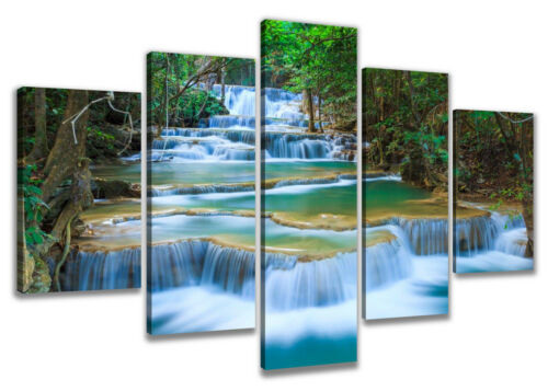 Canvas Wall Pictures Picture Waterfall 5 Various Sizes Art Print 1550 D1