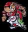 OSU-Ohio-State-University-Brutus-Football-player-O-Monogram-and-Buckeye-Magnet thumbnail 1