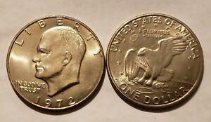 1972 D Eisenhower Dollar Choice Bu Free Shipping