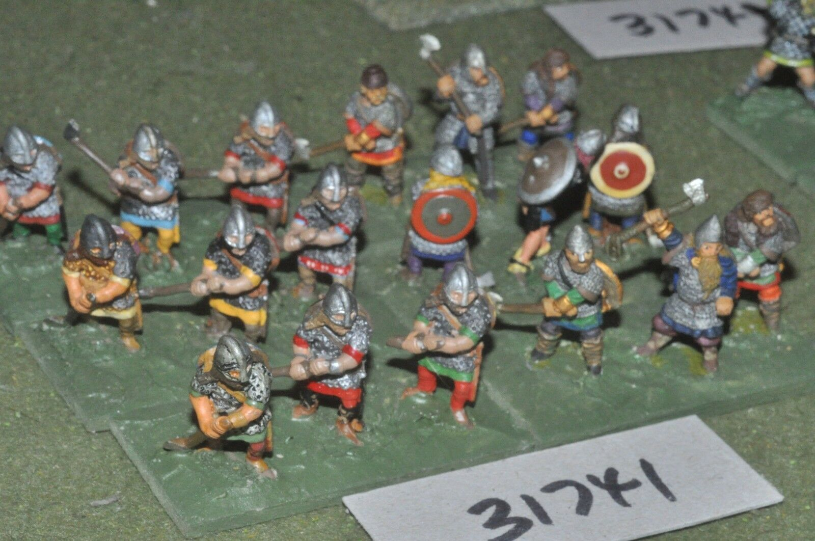 25mm dark ages   viking - warband 18 figures - inf (31741)