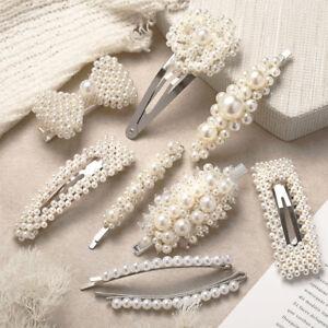 Chic-Women-Pearl-Hair-Clip-Snap-Barrette-Stick-Hairpin-Hair-Accessories-Gift