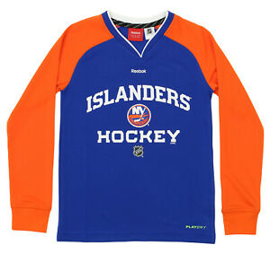 Hot Sale Reebok Nhl Youth New York Islanders Covert Long Sleeve Tee Blue Providing Amenities For The People; Making Life Easier For The Population Clothing, Shoes & Accessories