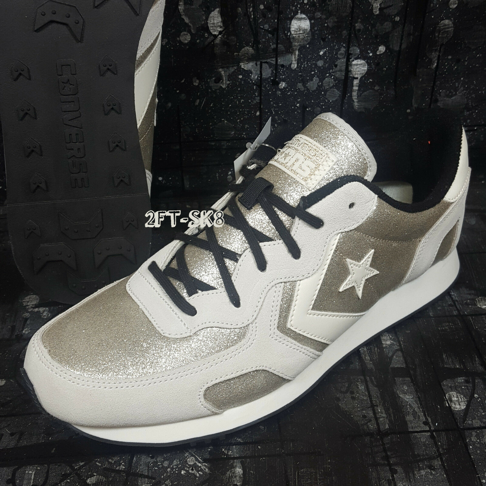Converse AUCKLAND RACER OX GOLD GREY WHITE MEN'S SKATE SHOES S88128.60